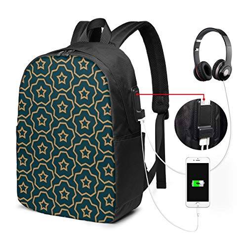 Funny Z Zaino per Laptop da Viaggio Zaino Moderno Elegante alla Moda con Struttura per Computer Zaini con Porta di Ricarica USB Zaino per Escursioni Casual da Viaggio Unisex