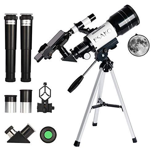 esako telescopio per bambini e principianti telescopi astronomici portatili da 70 mm con filtro lunare per telefono e lente barlow 3x