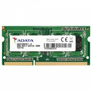 ADATA DDR3, 1600MHz 204-Pin, SO-DIMM, 4GB 4GB DDR3 1600MHz memoria