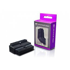 Cooler Master Adattatore ATX 90° a 24 Pin - Cavo Connettore Alimentatore per Strutture Più Pulite, Compatibilità Universale, Installazione Semplice, 3 Anni di Garanzia - Condensatori Anti-Ripple