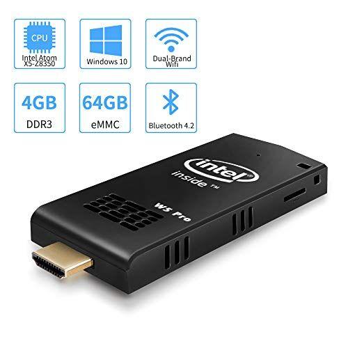 Aoxun W5 Pro Mini PC Intel Atom Z8350 Windows 10 Computer Stick 4GB DDR 64GB eMMC Supporto 4K HD, Dual Band WiFi AC, 2 porte USB, BT 4.2