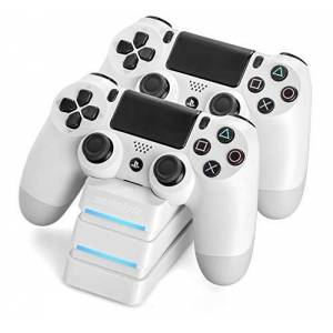 SNAKEBYTE PS4 TWIN:CHARGE 4 WHITE