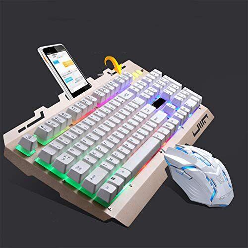 dlrbwan tastiera e mouse combinati tastiera e mouse combinati con luci colorate e mouse con 4 dpi regolabili per giochi per pc/laptop/mac-keyboard_and_mouse