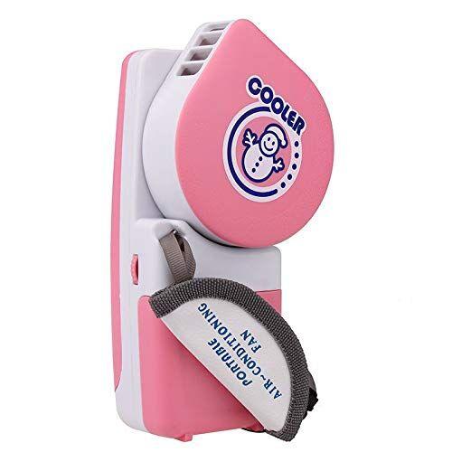 wanglai mini portatile condizionatore d' aria ventola di raffreddamento usb raffreddamento palmare umidificatore raffreddamento rosa rosa 16.5 x 7.8 x 5.0 cm