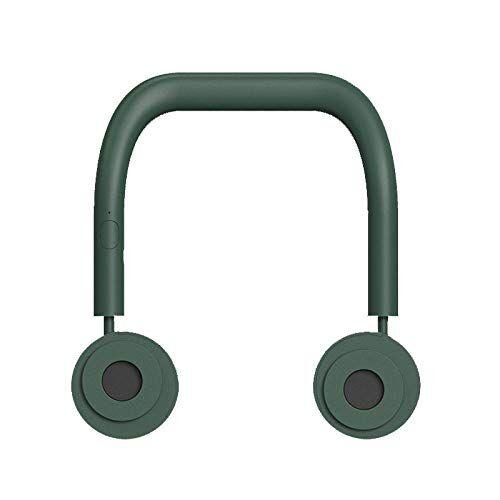 ruijanjy ventilatore da soffitto a collo pigro ricarica usb mini ventilatore sportivo portatile dissipazione del calore estivo essenziale-verde_229 * 218 * 25 mm