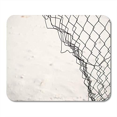 rae esthe tappetino per mouse confine spezzato collegamento a catena recinzione gabbia da neve mousepad innovativo in metallo per notebook, computer desktop tappetini per mouse, forniture per ufficio