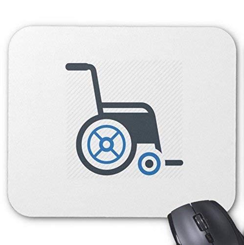 n\a mousepad sedia a rotelle con tappetino mouse stampa sfondo bianco