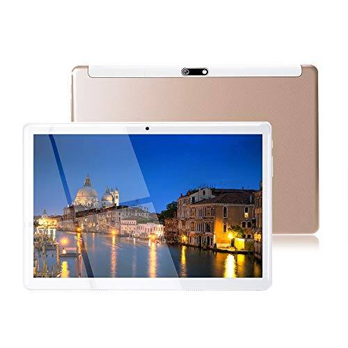MaiTai Tablet 10 Pollici con Wifi Offerte Fire HD 10.1 3G Android 7.0 4GB RAM,64GB ROM,Doppia SIM,Octa Core,GPS,OTG,1080P,Gold