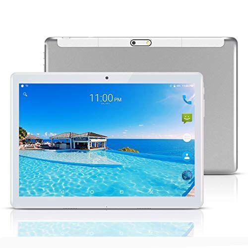 MaiTai Tablet 10 Pollici con Wifi Offerte Fire HD 10.1 3G Android 7.0 4GB RAM,64GB ROM,Doppia SIM,Octa Core,GPS,OTG,1080P,Argento