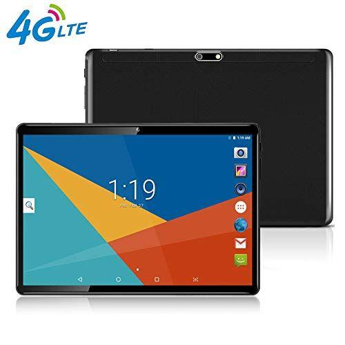 MaiTai Tablet 10 Pollici con Wifi Offerte Fire HD 10.1 3G 4G LTE Android 7.0 4GB RAM,64GB ROM,Doppia SIM,Octa Core,GPS,OTG,1920X1200 IPS,nero