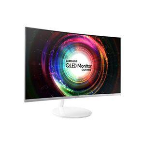 Samsung C27H711 Monitor Curvo Quantum Dot e Ultra WQHD, Risoluzione 2560 x 1440, Frequenza di aggiornamento 60 Hz, Tempo di risposta 4 (GTG), Bianco/Argento, 27, VESA