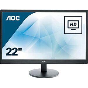 """AOC e2270Swhn Dis Monitor da 21,5"""", Nero"""