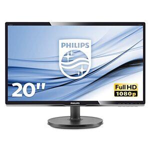 """Philips 200V4QSBR Monitor 20"""" LED con Pannello MVA, Full HD, 1920 x 1080, DVI, VGA, Inclinabile, Contrasto Statico 3000:1, Attacco VESA, Nero"""