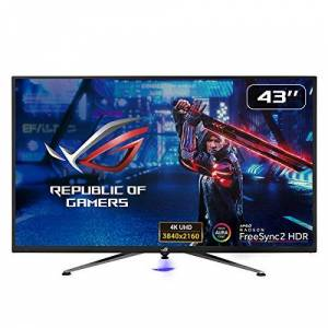 Asus ROG Strix XG438Q HDR Large Gaming Monitor  43-inch, 4K (3840 x 2160), 120 Hz, FreeSync 2 HDR, DisplayHDR 600, DCI-P3 90%, Shadow Boost, 10W Speaker x2, Remote Control