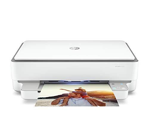 HP Envy 6020 5SE16B, Stampante Multifunzione, Stampa, Scansiona, Foto, formato A4, Wi-Fi Dual-Band, USB 2.0, HP Smart, 6 Mesi di Instant Ink inclusi, Grigia