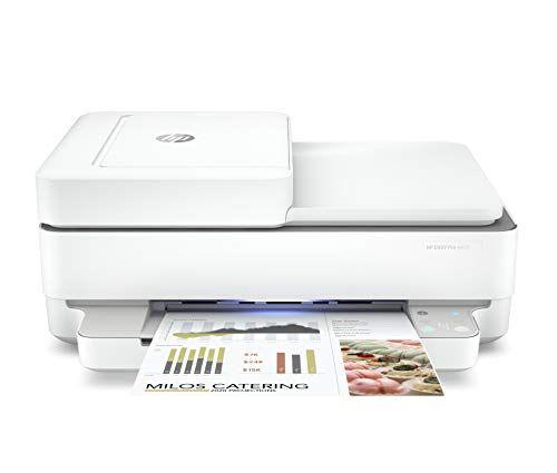 HP Envy Pro 6420 5SE45B, Stampante Multifunzione, Stampa, Scansiona, Foto, formato A4, Fax, Wi-Fi Dual-Band, USB 2.0; HP Smart; 6 Mesi di Instant Ink inclusi, Bianca