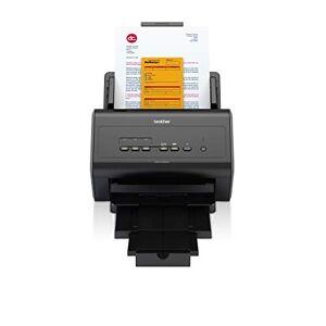 Brother ADS2400N Scanner Desktop con Rete Cablata, 40 ppm, ADF da 50 Fogli, Dual CIS per Scansione Fronte/Retro Automatica