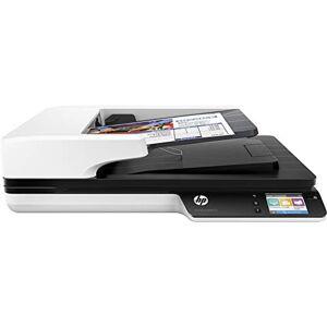 HP Scanjet Pro 4500 FN1/ L2749A, Scanner a Doppia Scansione, Wireless, Professionale per Documenti e Immagini, Compatto e Pratico, Bianco