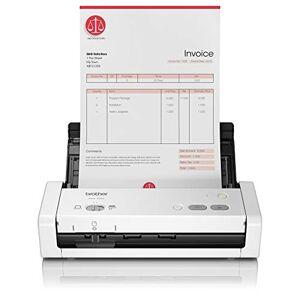 Brother ADS1200 Scanner Compatto Desktop, Portatile, Duplex Dual CIS, Velocit 25 ppm/50 ipm, Risoluzione 1.200 Dpi, Adf da 20 Fogli, Interfaccia USB, Driver Twain, WIA