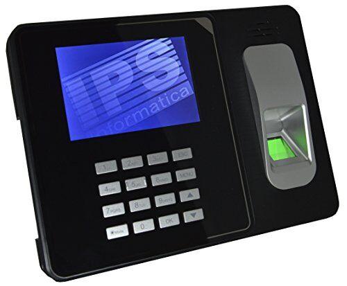 """I.P.S. INFORMATICA SRL RILEVATORE PRESENZE CON IMPRONTA DIGITALE E RFID - CERTIFICATO CE- MENU E SOFTWARE IN ITALIANO E NR. 10 BADGE OMAGGIO - GARANZIA ITALIA - MONITOR A COLORI 4"""", USB E LAN"""