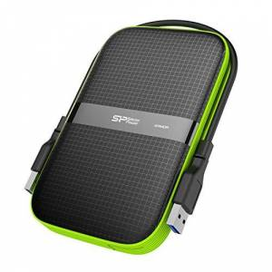 SP Silicon Power Silicon Power 2 TB External Portable Hard Drive Rugged Armor A60 Shockproof Water-Resistant 2.5-inch USB 3.0, Military Grade Mil-Std-810G & IPX4, Black (FBE-SU020TBPHDA60S3KFE)