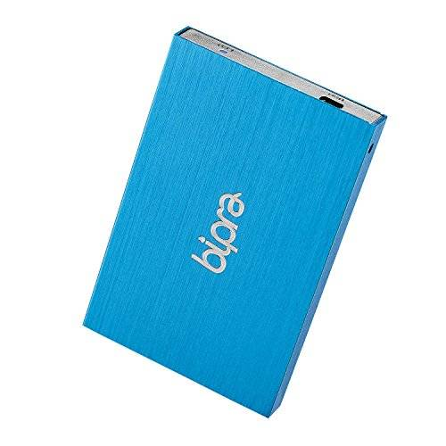 bipra - hard-disk esterno fat32, 120 gb, usb 2.0, 2,5 / 63,5 mm, colore: blu grigio metallic - blau 320 gb