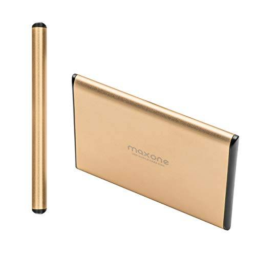 maxone hard disk esterno portatile da 2,5usb 3.0/2.0 per laptop/pc/xbox one / ps4 (500gb, gold)