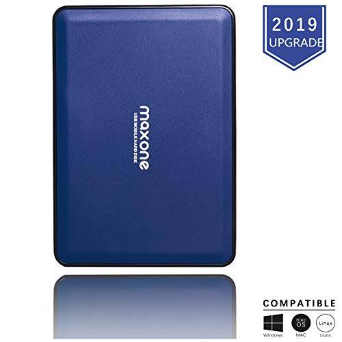 maxone hard disk esterno 160gb-2,5pollici ultrasottili hdd da usb 3.0 portatili per tv, pc, mac, macbook, chromebook, wii u, laptop, desktop, windows (160gb,blu)