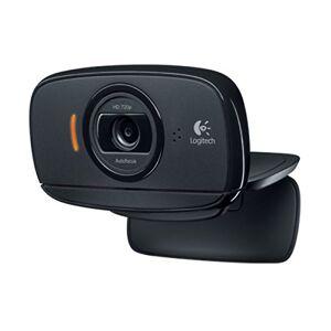 Logitech B525 Business Webcam Portatile, HD 720p/30fps, Videochiamata HD Widescreen, Pieghevole, Correzione Luce HD, Messa a Fuoco Automatica, Skype, Cisco Jabber, Zoom, PC/Mac/Laptop/Macbook/Tablet