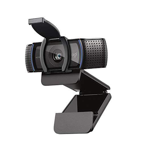 Logitech C920S HD Pro Webcam, Videochiamata Full HD 1080p/30fps, Audio Stereo Chiaro, Correzione Luce HD, Privacy Shutter, Per Skype, Zoom, FaceTime, Hangouts, PC/Mac/Laptop/Tablet/XBox, Nero
