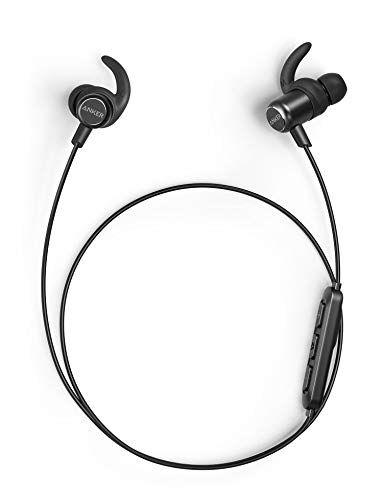 Anker SoundBuds+ Slim Cuffie Sportive Bluetooth, Auricolari in-ear leggere e senza fili, con supporto al Suono HD aptX ad Alta Risoluzione, Resistenti all'acqua IPX5