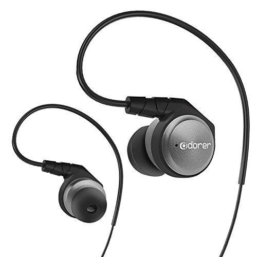 Adorer Auricolari, M9 Cuffie Auricolari In-ear con Microfono, HIFI Auricolari ad isolamento acustico di alta qualità per iPhone, iPad, Samsung, Android e Lettore MP3 - Grigio