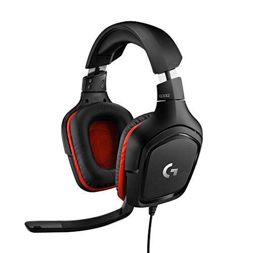 Logitech G332 Cuffie con Microfono per Gaming Stereo Headset, Microfono Flip-To-Mute 6 mm