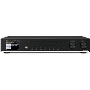TechniSat DIGITRADIO 143 CD  Sintonizzatore HiFi Webradio (Radio digitale DAB+, VHF, Streaming audio Wi-Fi, Bluetooth, Spotify Connect, Lettore CD, Telecomando, Larghezza 43,5 cm) nero