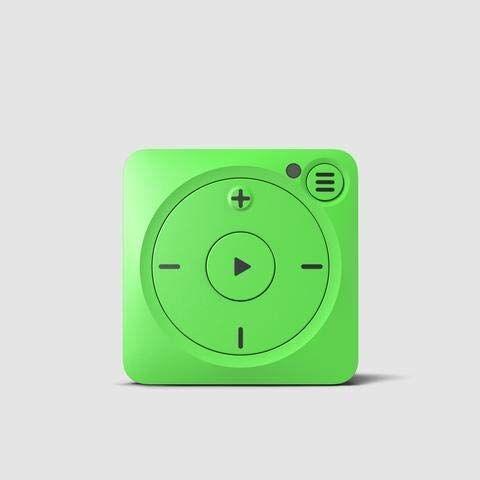 Mighty Vibe Spotify e Amazon Music Player - Shamrock Verde - Lettore multimediale digitale - Clip sportiva, per Bluetooth e cuffie cablate - Lascia il telefono a casa