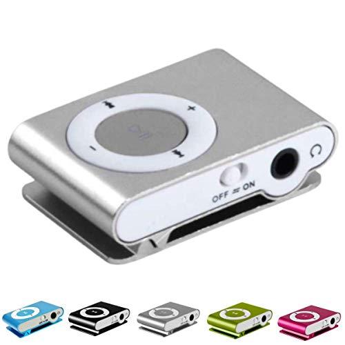 patabit lettore mp3 running   mp3 player con clip   mini lettore mp3 con clip in metallo e slot per memoria esterna micro sd non inclusa (silver)