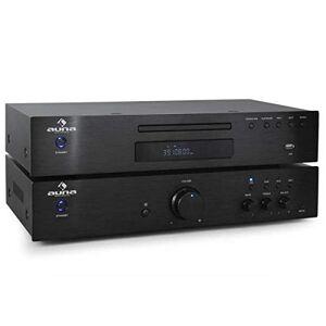 Auna Set stereo HiFi 2.0 Auna Elegance Tower amplificatore + lettore CD (finale di potenza 600 Watt, lettore CD MP3, iningresso USB, telecomando)