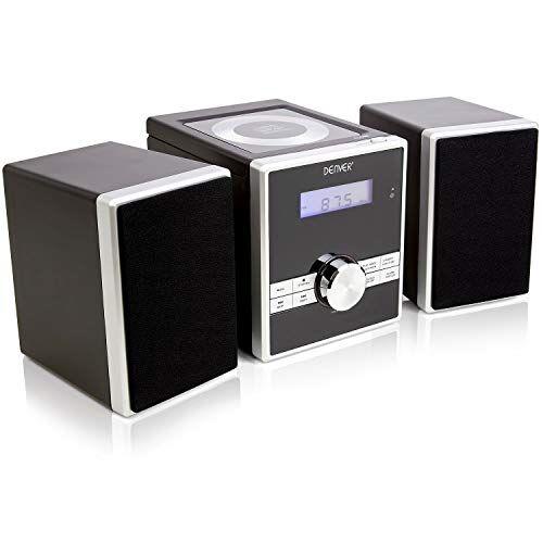 denver mca-230 - lettore cd compatto facile da usare, mini stereo/micro hifi con sveglia, timer snooze/sleep, aux in per lettore mp3/smartphone/tablet, telecomando completo