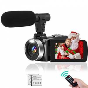 YinFun Videocamera Videocamere con Visione Notturna IR, FHD 1080P 30FPS YouTube Vlogging Camera 16X Zoom Digitale Fotocamera digitale con Microfono e 2 Batterie Ricaricabili