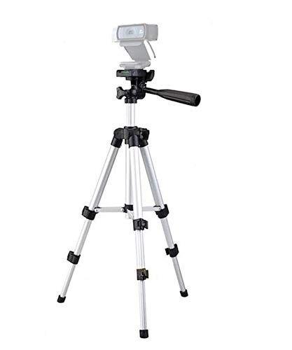 AYIZON Webcam treppiede treppiede per fotocamera, supporto per Logitech webcam Brio 4K, C925E, C922x, C922, C930E, C930, C920, C615-65cm altezza argento
