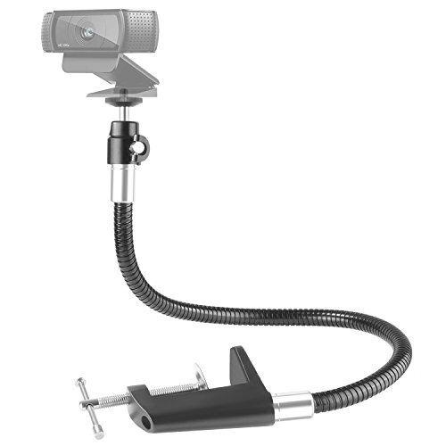 Neewer 63,5cm Morsa Clip con Braccio Lungo Flessibile Supporto Adattatore di Montaggio con Gooseneck per Logitech Webcam Brio 4K C925e C922x C922 C930e C930 C920 C615