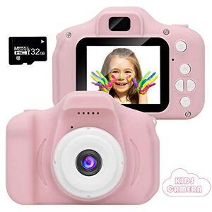 APSONAR Telecamera digitale per bambini 1080P HD Fotocamera digitale per bambini portatile da viaggio da 2 pollici da 800 MP (rosa-4) (ROSA)
