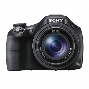 Sony DSC-HX400V Fotocamera Digitale Compatta Bridge con Sensore CMOS Exmor R da 20.4 MP, Ottica Zeiss, Zoom Ottico 50x, SteadyShot Ottico Adattivo a 5 assi, Mirino Elettronico, Nero
