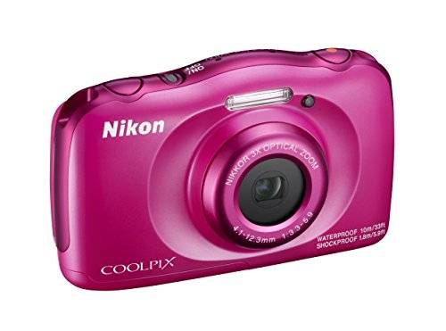 Nikon Coolpix W100 Fotocamera Digitale Compatta, 13,2 Megapixel, LCD 3, Full HD, Rosa [Nital Card: 4 Anni di Garanzia]