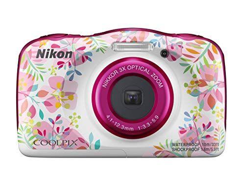 Nikon Coolpix W150 Fotocamera Digitale Compatta, 13.2 Megapixel, LCD 3, Full HD, Impermeabile, Resistente agli Urti, alle Basse Temperature e alla Polvere, Flowers