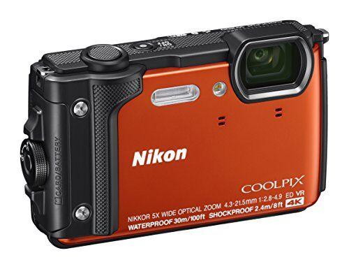 Nikon Coolpix W300 Fotocamera Digitale Compatta, 16 Megapixel, 4K, Subacquea, Antiurto, Antigelo, GPS, GLONASS, Wi-fi, Bluetooth, Arancione [Nital card: 4 anni di garanzia]