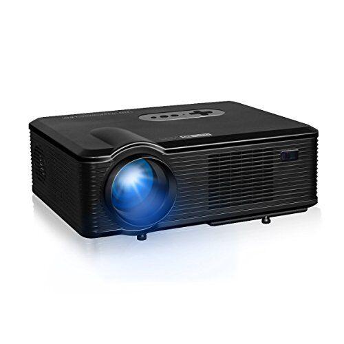 Excelvan CL760 LED - Proiettore 1080P Proiettore HD ( 3200 Lumens 1280 x 800, Proiezione 33- 150, 4: 3 16: 9, Interfaccia HDMI / USB / SD / AV / VGA, Supporta Smartphone , computer, laptop, tavolo, (CL760 2)