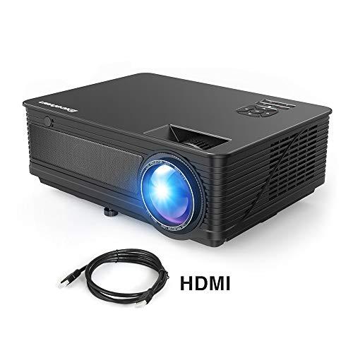 Excelvan Proiettore Full HD 1080P Excelvan M5 3500 Lumen Mini Proiettore Portatile con HDMI per iPhone / Android / PS4 / Laptop / TV Box Videoproiettore 200 Pollici Ideale per Guardare Film Partite e Giocare