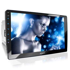 """XOMAX XM-2V1004 Autoradio con Schermo Touch Screen XXL regolabile (10"""" / 25 cm) I Mirrorlink I Bluetooth I Porte per microfono esterno e telecamera per la visione posteriore I RDS I USB I 2 DIN"""