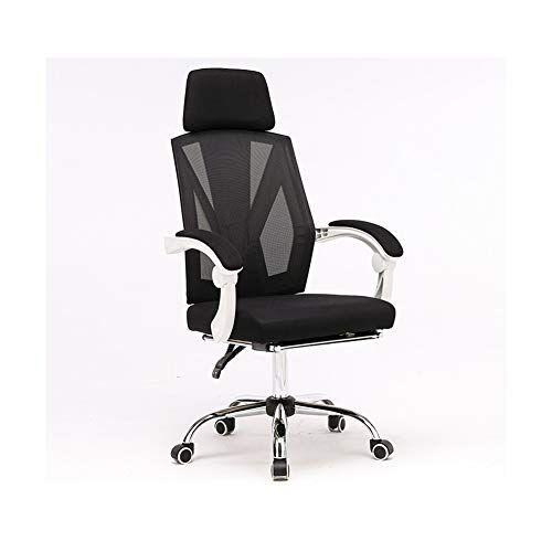 sxlml sedia da ufficio ergonomica con rotelle, sedia con poggiatesta anti cervicale, schienale traspirante, sedia pieghevole regolabile, sedia ergonomica con braccioli